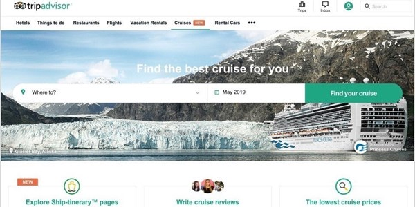 TripAdvisor new cruise review price comparison site2