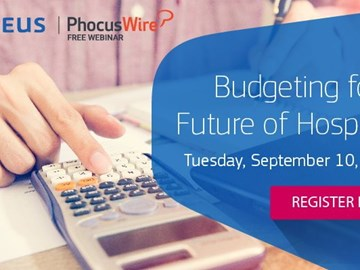 WEBINAR ALERT! Budgeting for the future of hospitality