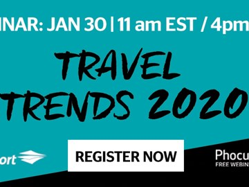 WEBINAR ALERT! Travel trends 2020: Discover the latest in online and mobile travel