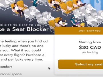 Another ancillary revenue for airlines: seat-blocking tech during a pandemic