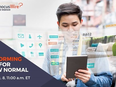 WEBINAR ALERT! Transforming travel for the new normal