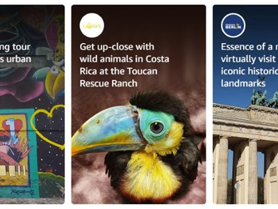 Amazon launches virtual tours and activities for destinations