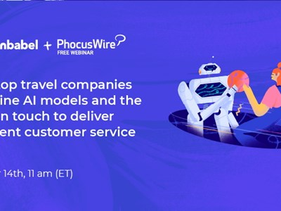 WEBINAR ALERT! How top travel companies combine AI and humans to deliver excellent customer service