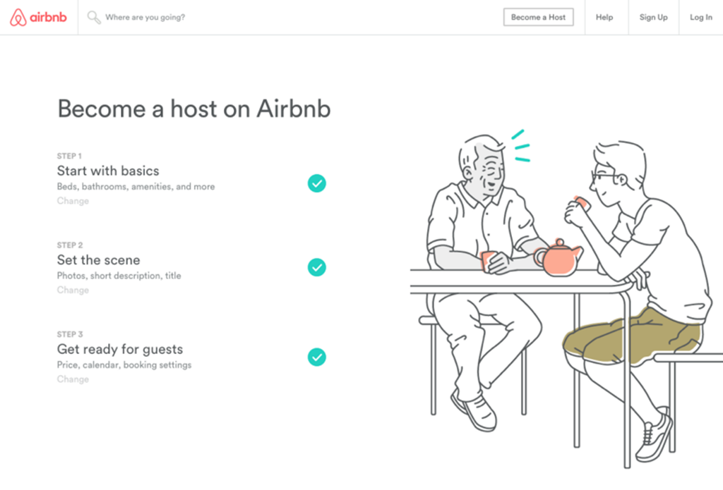 How Airbnb grows its host community through online marketing