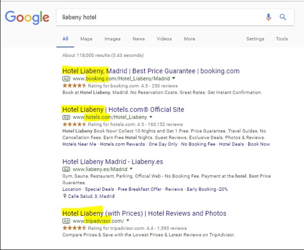 How hotels can manage brand protection changes on Google