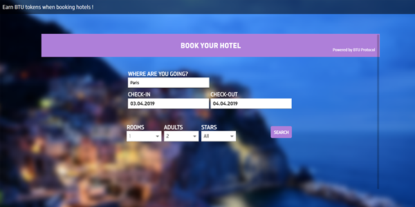 BTU Hotel blockchain booking platform