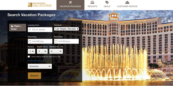 mgm resorts expedia
