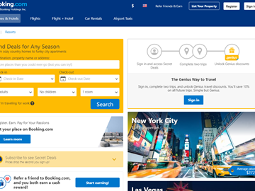 Booking.com SimilarWeb report