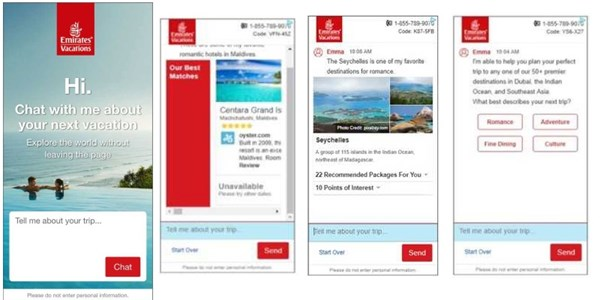 Emirates Vacations puts AI-powered chatbot directly into ads