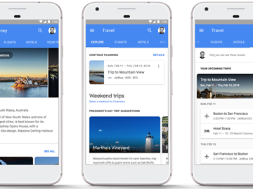 Google new nav bar hotel search