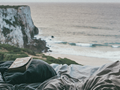 reading on cliff