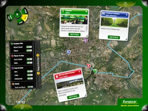 Making Car Hire Sexy Through Microsoft Surface Europcar Driving