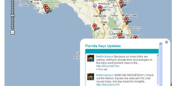 Visit Florida tourism board uses Google Maps and Twitter ...
