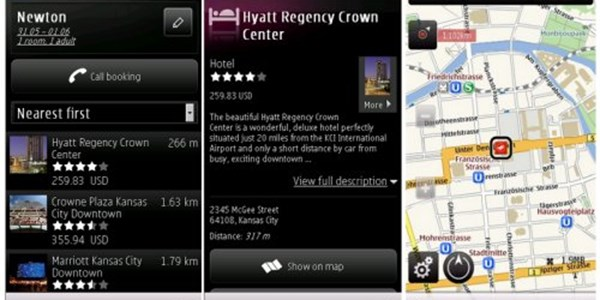 Nokia extends Ovi location-aware hotel search into US and UK