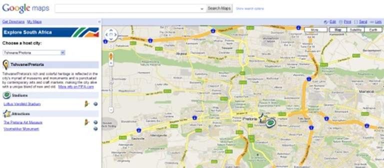 Google teams with South African Tourism in World Cup maps mashup ...