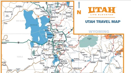 photo about Printable Map of Utah identify Western retro -- Utah operating out of posted maps, drive