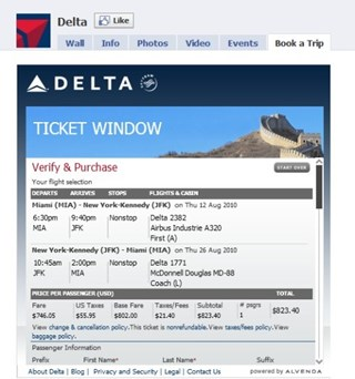 Delta beats EasyJet as first airline to offer booking engine