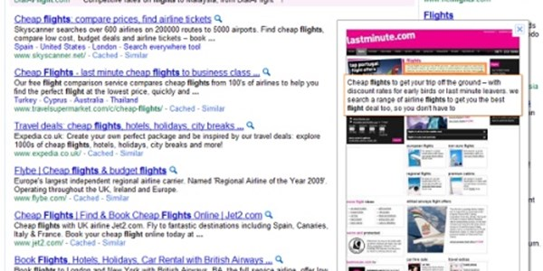 Google tests website preview in search results   PhocusWire