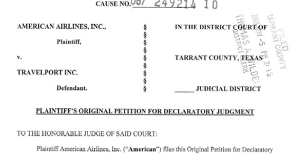 American Airlines Files Legal Action Against Travelport