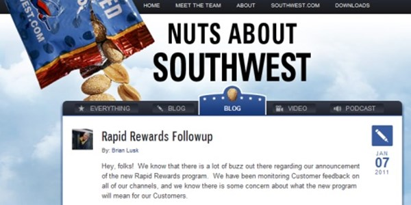 New Southwest Rapid Rewards program gets savaged on Southwest blog