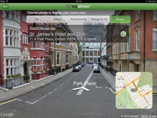 Tripadvisor Loves Google Again Puts Street View Into Ipad App