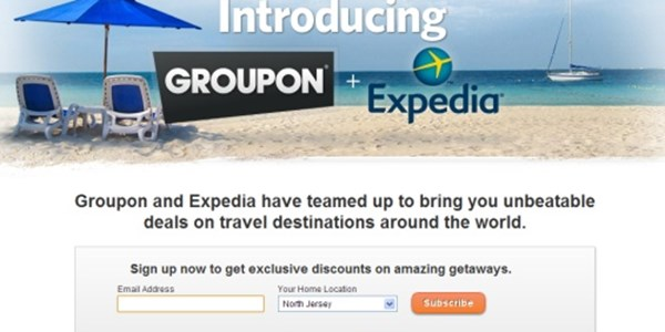 Expedia partners with Groupon on getaways