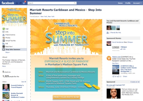 marriott massages facebook likes with event invitations phocuswire