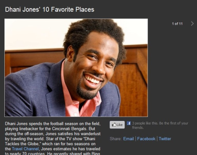 Bing Travel partners with NFL star Dhani Jones -- fumble or