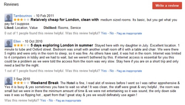 Google kills web reviews for hotels on Maps and Places