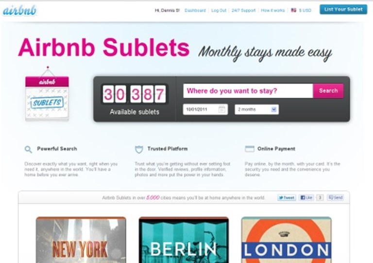Airbnb for business travelers? Rental tools for monthly