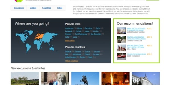 Excursiopedia wants to be the Booking.com for tours and activities