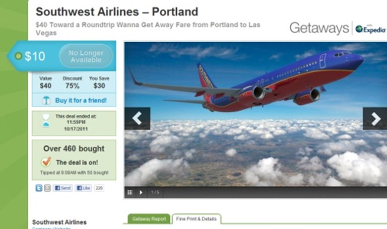 Southwest on AirTran code share, Groupon discounts, TripIt