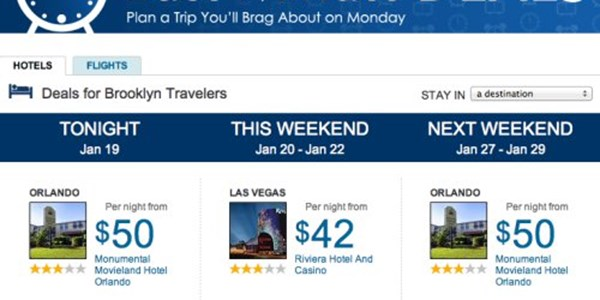 Expedia Deals Engine Taps Into User Patterns For Last Minute Deals Phocuswire