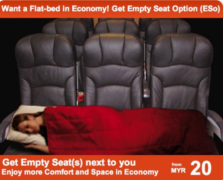 Airline social seating? AirAsia X goes antisocial with Empty Seat