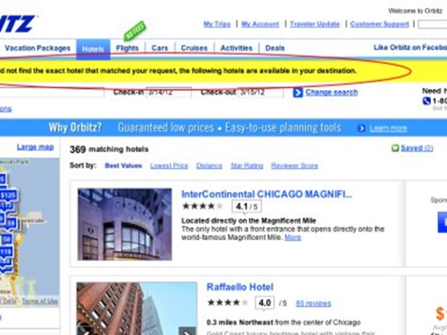 Hilton hotels go missing or hidden in contract dispute with Orbitz