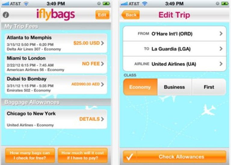 Iflybags goes mobile with iPhone app for baggage fee calculations