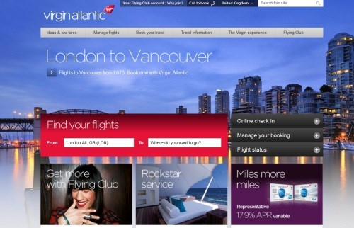 The airline is in the throes of completely redeveloping the look and feel  it site, claiming it is