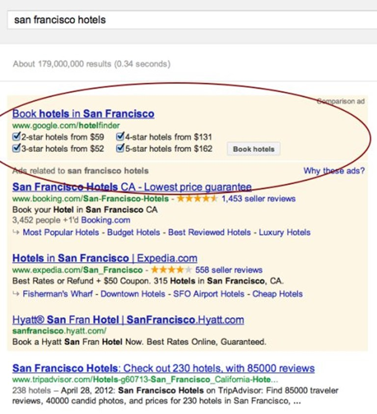 With The Change Google Hotel Finder Its Book Hotels On And Ability To Search For Two Three Four Five Star Pricing