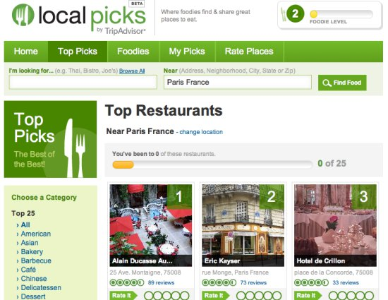 Tripadvisor Local Picks Facebook Restaurant App To Compete