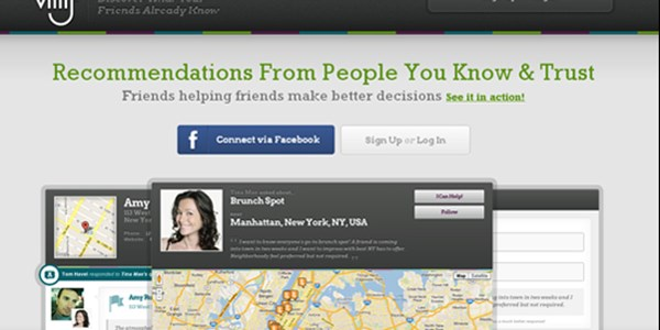 Villij, a tool for friend-sourcing recommendations, talks business