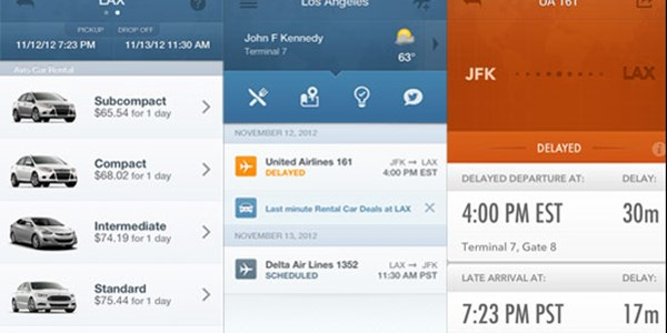 GateGuru iPhone app adds same-day booking for car rentals and TripIt