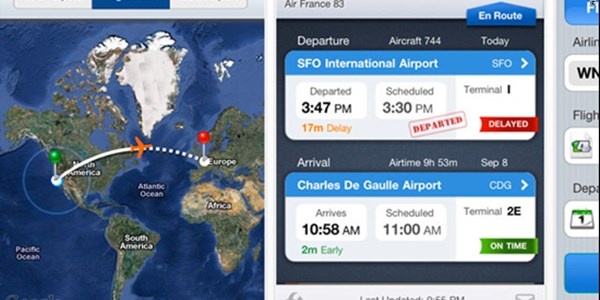 The most popular air travel apps by actual iPhone usage