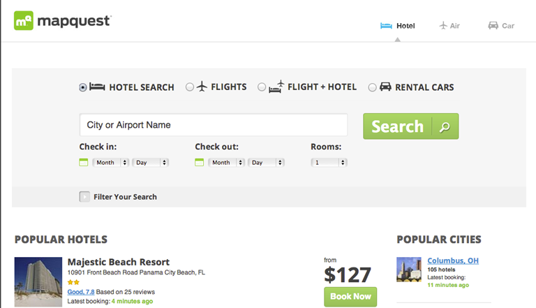 Priceline inventory to appear in MapQuest products ...