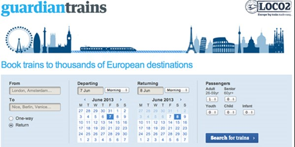Loco2 powers new Guardian Trains booking tool