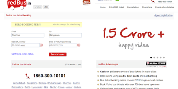 RedBus, selling a million bus tickets every single month