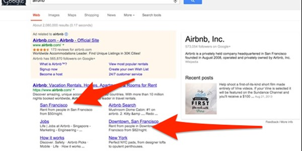 Understanding search: Google gives localized sitelinks for