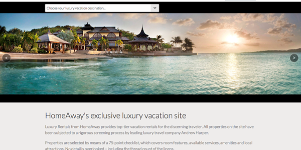 HomeAway launches global luxury vacation rental portal