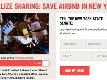 70,000 signatures for Save Airbnb in New York City petition