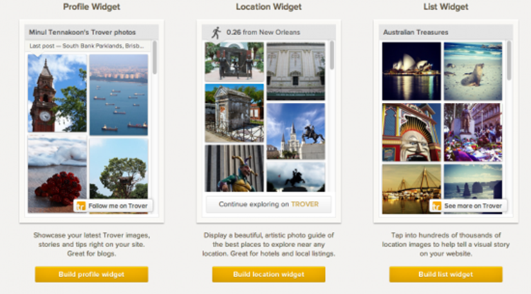 Trover opens up image bank with drop-in widgets for travel