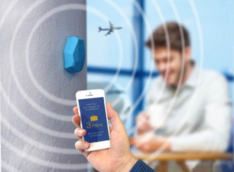 iBeacons and airports: Results from a real-world test